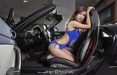 美艳高冷车模