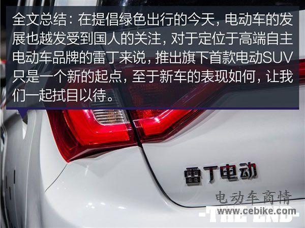 2015南京电动车车展 雷丁S50实拍图解高清图片