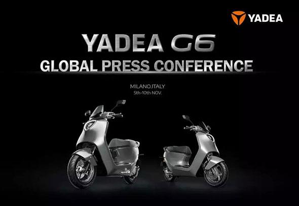 雅迪G6海外版闪耀米兰展,全球化战略格局打造国际一线品牌