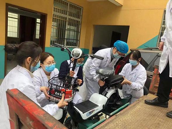 """全民战""""疫"""" 千里驰援!台铃第二批捐助车辆成功交付至武汉4家抗疫机构!"""