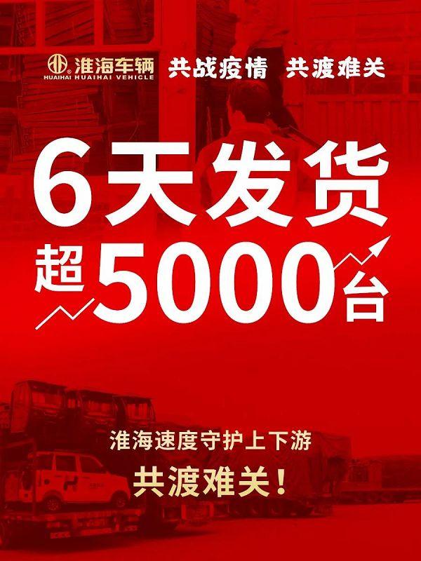 """有效复产率80%!""""淮海速度""""6天发货超5000台"""