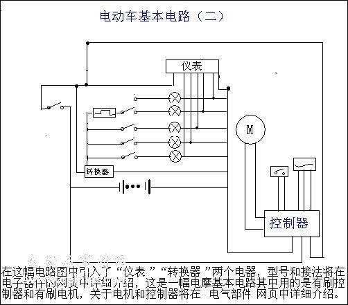 电动车电路构造原理及图示