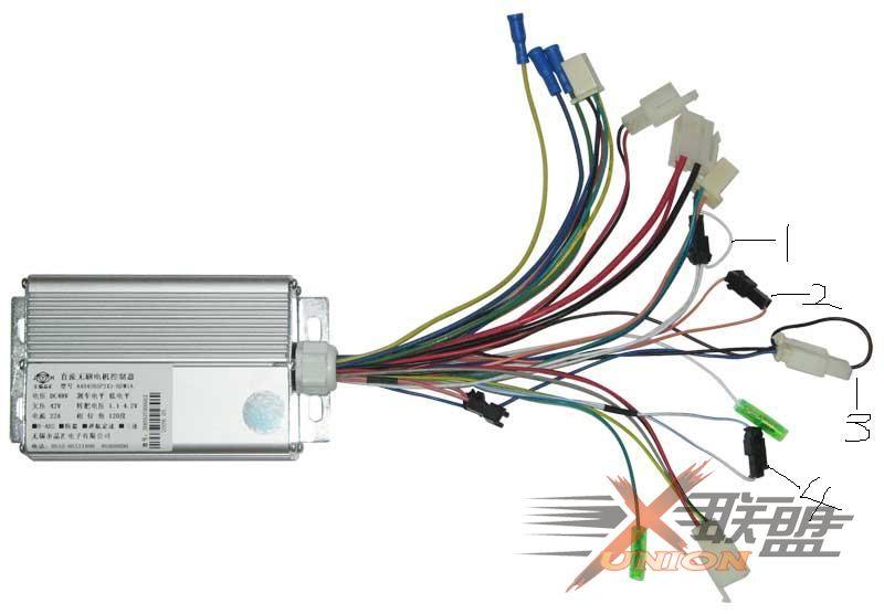 晶汇电动车控制器这几个插头有什么作用请高手解答